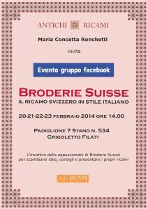 Broderie suisse locandina abilmente febbraio 2014