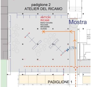 Area Ricamo planimetria